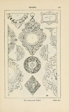 A handbook of ornament; frames the strap-work tablet pg 475