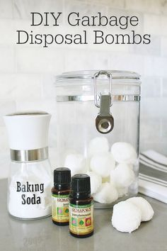 These are an easy and green way to clean your garbage disposal and smell great! Lots of other tips to maintain and clean a garbage disposal. Deep Cleaning Tips, House Cleaning Tips, Spring Cleaning, Cleaning Hacks, Cleaning Recipes, Green Cleaning, How To Remove Kitchen Cabinets, Clean Baking Pans, Thing 1