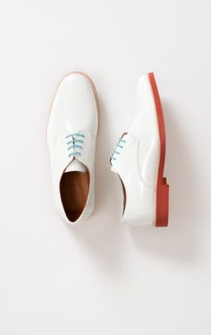 Look the baby blue laces!   Patent #Shoe by CLOSED