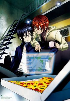 Saruhiko and Misaki living together during middle school ^-^ | K Project official art