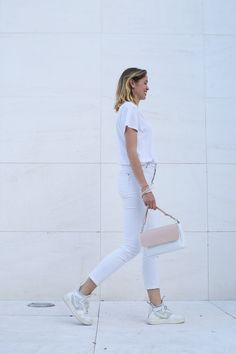 Leather bag. Bolso de piel. White and nude bag. Summer bag.