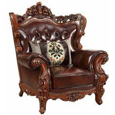 Leather Sofa And Loveseat, Leather Sofa Set, Tufted Sofa, Walnut Chair, Acme Furniture, Italian Furniture, House Furniture, Luxury Furniture, Wood Trim