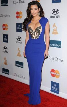 Kim Kardashian - Clive Davis 2012 Pre-GRAMMY Gala