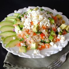 Greek Quinoa with Avocado