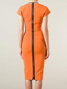Love this!!  contrast trim v-neck dress