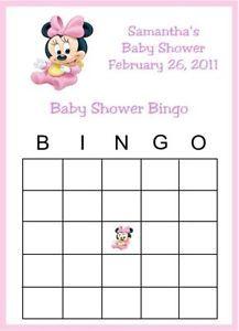 minnie mouse baby shower games personalized baby minnie bingo baby