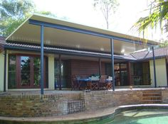 Pergola With Metal Roof Pool Gazebo, Hot Tub Pergola, Deck With Pergola, Pergola Shade, Patio Roof, Pergola Patio, Pergola Plans, Pergola Ideas, Pergola Kits
