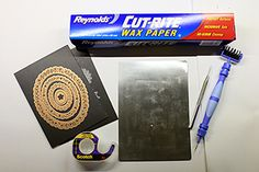 Tutorial - Cutting with Detailed Dies: use up to four layers of wax paper against die cutting edge.