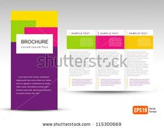 Vector Brochure Tri-fold Layout Design Template by photovs, via Shutterstock