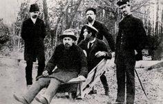 7Долженко-Гиляровский-И.П.Чехов(стоят)-А .П.Чехов-М.П.Чехов(сидят)