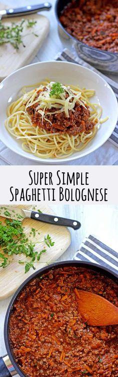 Super Simple Spaghetti Bolognese | The Kiwi Country Girl