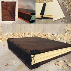 We just adore the smoky grain of this Coptic bound walnut journal!  Learn more about this beautiful handmade book at Etsy.com - 4LoveandArt. #copticbinding #copticboundjournal #woodjournal #copticboundwoodjournal #bookbinding #bookmaking #walnutjournal #handboundbook #handboundjournal #walnutnotebook #handcrafting #handmadejournal #blackwalnutjournal #blackwalnutnotebook #copticboundwalnutjournal #copticboundwalnutnotebook #beautifulbook