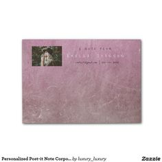 Personalized Post-it Note Corporate Pink Cement Post-it® Notes