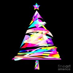 Christmas Tree Design Fine Art Print