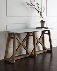 Brek Wall Table at Neiman Marcus.