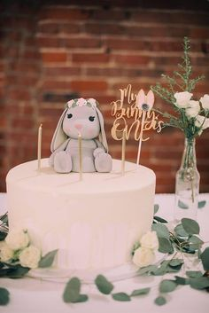 My Bunny Is One Cake topper is perfect for your little bunnies first birthday. My Bunny Is One Cake topper is perfect for your little bunnies first birthday. This cake topper fea