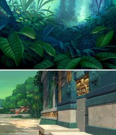 The Road to Eldorado - Animation Backgrounds painted by Scott Wills