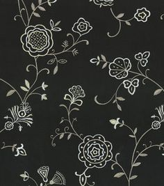Home Decor Fabric-Waverly Belle Embroidery Ebony : home decor fabric : fabric :  Shop | Joann.com