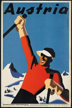 classic posters, free download, free printable, graphic design, printables, retro prints, travel, travel posters, vintage, vintage posters, vintage printables, Austria - Vintage Travel Printable Poster