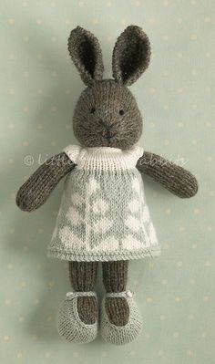 "Cute Bunny Girl - pattern for similar under julia williams ""bunny girl in a dotted dress"" on ravelry"