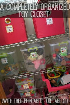 A Completely Organized Toy Closet {With Free Printable Tub Labels!} - House by Hoff