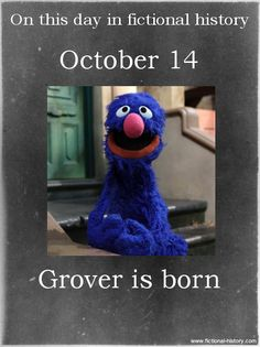 On This Date in Fictional History Sesame Street Muppets, Sesame Street Characters, Cartoon Characters, Fictional Characters, Elmo, Libra, Fraggle Rock, Birthday Blessings, Jim Henson