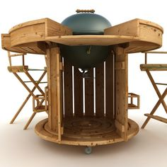 BBQ with round table Model available on Turbo Squid, the world's leading provider of digital models for visualization, films, television, and games. Bbq Table, Pallet Projects, Barbecue, Woodworking, Yard, Skylight, Patio, Barrel Smoker, Pallet Wood