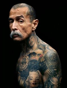 mustache and tattoos