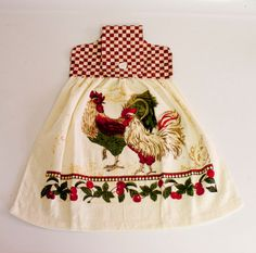 Rooster Hanging Dish Towel by SewCharmingCrafts on Etsy, $3.00