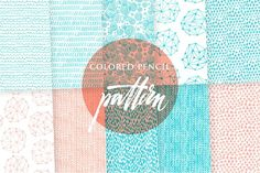 Colored pencil paper pack by Vera Holera on @creativemarket