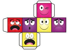 Cube Toy Pattern About Emotions - Preschool Children Akctivitiys Emotions Preschool, Emotions Activities, Hands On Activities, Learning Activities, Art Games For Kids, Cube Games, Spanish Teaching Resources, Cube Toy, Feelings And Emotions