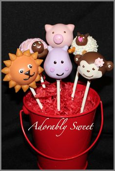 Animal Fun Cake Pops by adorablysweetcakepops, via Flickr