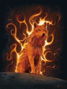 Gifs ✿*´♥¨✿* ♥¸*¸  Lobo fogo ☺♥