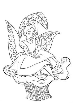 Disney Coloring Pages - Alice in Wonderland (printable, copics, coloring page)