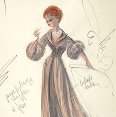 Edith Head Costume Design for Lucy, via Flickr.