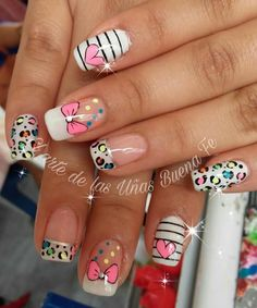 Uñas de mano Sexy Nails, Classy Nails, Love Nails, Pretty Nails, Heart Nail Designs, Nail Art Designs, Nails For Kids, Nails Only, Heart Nails