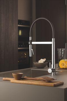 Kjøkkenkran fra Korsbakken Real Kitchen, Kitchen Mixer, Bathroom Furniture, Luxury Interior, Kitchenware, Sink, Design, Home Decor, Patio