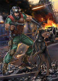 Mutt and Junkyard (Dog Handler)