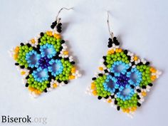 Earring tutorial - it's in Russian but there are pictures so it's doable