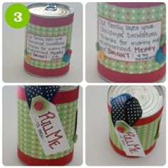 DIY Neighbor Gift Idea-Christmas CANdy (3 christmas treats in a can) This is a totally cool way to spread the holiday spirit!