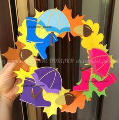 Осенние поделки аппликация Осенний зонтик  гирлянда Листья осень paper fall autumn craft for kids umbrella lavoretti Paper Crafts For Kids, Preschool Crafts, Diy And Crafts, Arts And Crafts, Autumn Crafts, Summer Crafts, Autumn Activities, Activities For Kids, Birthday Charts