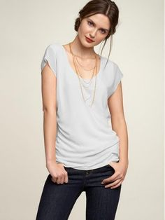 Casual shirt with dressy necklace