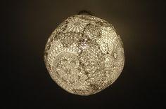 just paint it white: Lace Light Globe