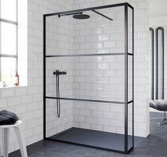 @lazienki_inspiracje Czarna kabina prysznicowa Walk In Riho Lucid. -------------- #riho #remonty #kabinaprysznicowa #kabina #ShowerSystems #kabiny #showercabin #przebudowadomu #projektowaniewnetrz #bohointerior #interiordesign #interiordecor #inspiracja Shower Cabin, Grid, Wardrobe Rack, Bathtub, Bathroom, Furniture, Home Decor, Products, Freestanding Tub