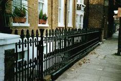 A house like the one Dorothy explored. Gates And Railings, Fence, Stairs, Victorian, London, Explore, Architecture, Short Stories, Building