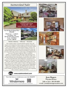 Just Listed! Sun Virtual Livestream OPEN House @ 1pm, May 24th, 2020. Real Estate for Sale: $924,500-3 Bd/2.1 Ba Exquisite Three Level Custom Eastmoreland Tudor Style Home with Media Room on .14 Acre Lot at: 7121 SE Reed College Pl, Portland, Multnomah County, OR! Area: SE. RMLS 20630975. Listing Broker: Joan Rogers (503) 318-4016, Windermere Realty Trust, Portland, OR! #RealEstate #JustListed #ExceptionalRealEstate #CustomRealEstate #PortlandRealEstate #EastmorelandRealEstate