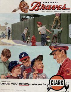 1960 Milwaukee Braves scorecard (Milwaukee Braves Museum).