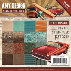 Bloc papier Amy Design Vintage Vehicles 15x15