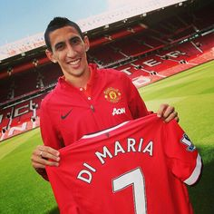"""I was aware of the importance of no.7,"" says Angel Di Maria. ""Cristiano Ronaldo had already explained it to me. I want to wear this shirt and do as much as I can for the club. I hope I can live up to it."""