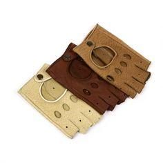 Manusi pentru Condus pentru Femei din Piele de Pecarin, Model Fara Degete Leather Wallet, Exotic, Model, Crafts, Accessories, Manualidades, Scale Model, Handmade Crafts